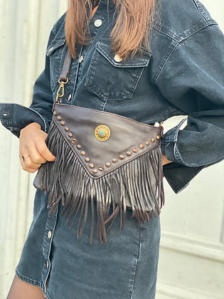 Idaho vintage Leather Crossbody Bag