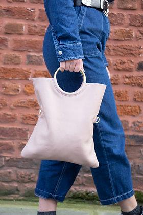 Twiggy Blush Grained Leather Handbag - Jijou Capri
