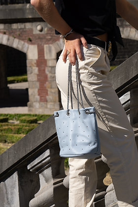 Baby Blue Liliana Bucket Studs Crossbody Bag - Jijou Capri
