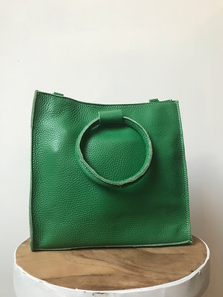 Green Momi Leather Handbag - Jijou Capri