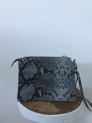 Elvira Snake Blue Leather Crossbody bag - Jijou Capri
