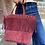 Thumbnail: Shopper Suede Fringes Leather Handbag