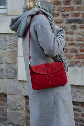 Betty Red Leather Crossbody Bag - Jijou Capri