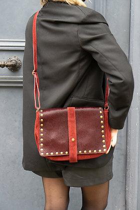 Arles Suede Pony Leather Crossbody Bag