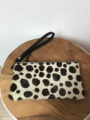 Dalmatian Ziplet Pony Leather Wallet - Jijou Capri