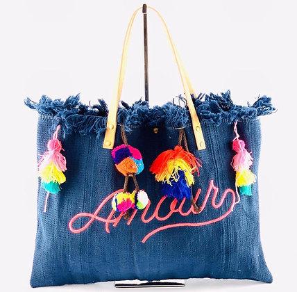 Tassel Amour Canvas Bag