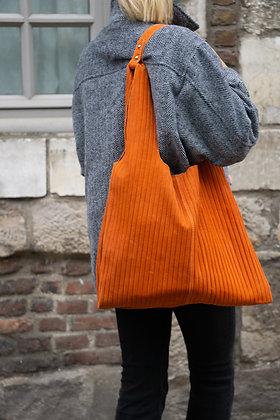 Orange Isabelle Rigato Leather Tote Bag - Jijou Capri