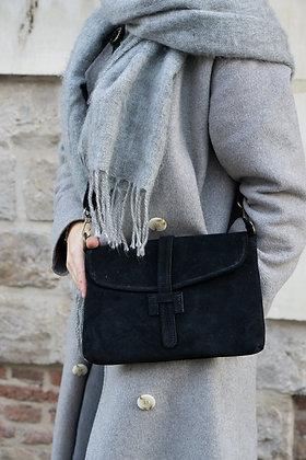 Betty Black Leather Crossbody Bag - Jijou Capri