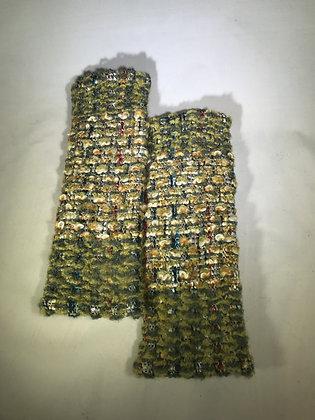 Woven Fingerless Gloves : 190573 Col 4 - Jijou Capri
