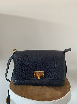 Navy Bamboo Crossbody Bag - Jijou Capri