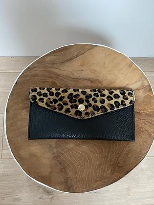 Mini cheetah Wallet Bobo Pony leather - Jijou Capri