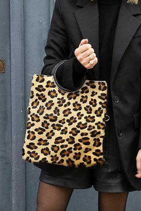 Big Cheetah Twiggy Pony Leather Handbag - Jijou Capri