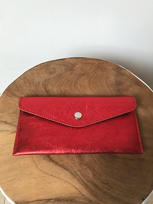 Wallet Bobo Metallic Red - Jijou Capri