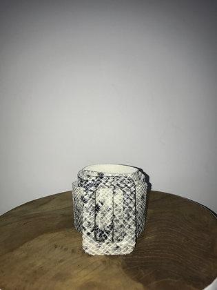 Vogue Python Leather Belt Grey - Jijou Capri
