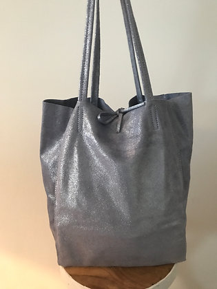 Cielo Glitter Leather Tote Bag - Jijou Capri