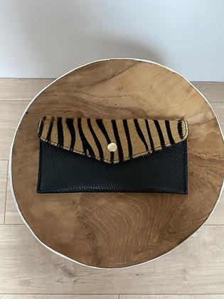 Brown Zebra Wallet Bobo Pony leather - Jijou Capri