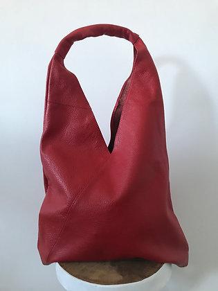 Gisele Red Leather Tote bag - Jijou Capri