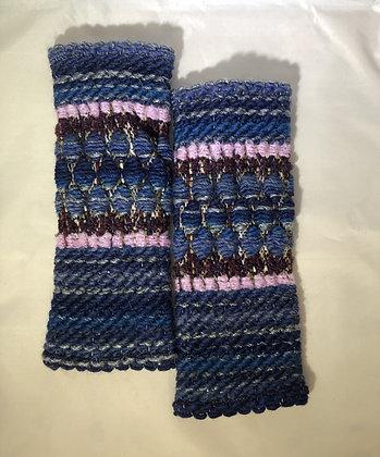 Woven Fingerless Gloves : 200583 Col 6 - Jijou Capri