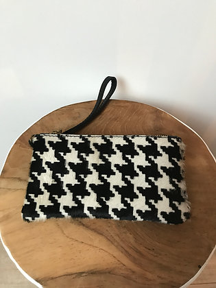 Black Spot Ziplet Pony Leather Wallet - Jijou Capri