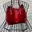Thumbnail: Red Luxy Pony Hair Bag - Jijou Capri