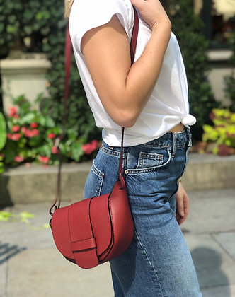 Vivi Grained leather Crossbody Bag