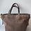 Thumbnail: Taupe Shopper Suede Fringes Leather Handbag - Jijou Capri