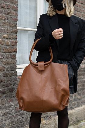 Camel Maxi Shopper Bellen Bag - Jijou Capri