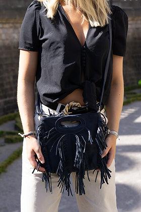Mini Seville Navy Leather  Crossbody Bag - Jijou Capri