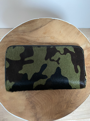 Kate Army leather Pony Wallet - Jijou Capri