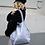 Thumbnail: Cielo Glitter Leather Tote Bag - Jijou Capri