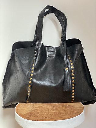 Black Vintage Courmayeur  Handbag - Jijou Capri