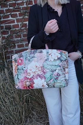 Flowers Leather Handbag