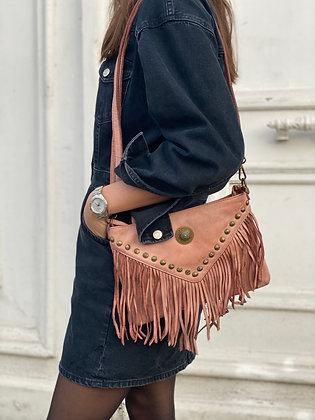 Blush Idaho vintage Leather Crossbody Bag - Jijou Capri