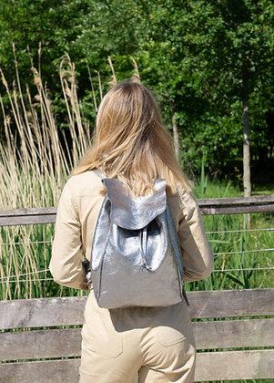 Metallic Leather Backpack