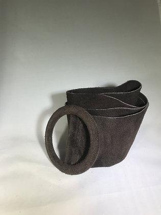 Elle Suede Leather Belt Dark Brown 7 - Jijou Capri