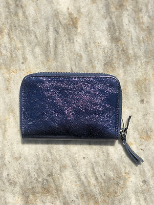Wallet Mini Kate Blue Metallic - Jijou Capri