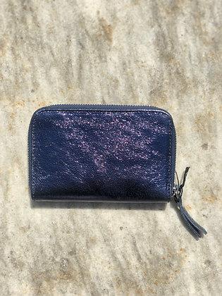Wallet Mini Kate Blue Metallic - Jijou Capri
