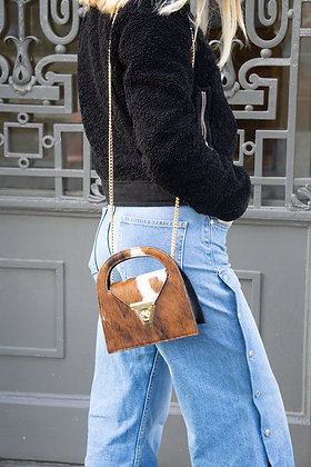 June Pony Cow Leather Crossbody Bag - Jijou Capri