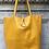 Thumbnail: Mustard Leather Tote Bag - Jijou Capri