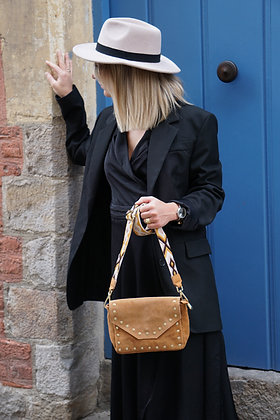 Tabby Strap  Suede Leather Crossbody Bag