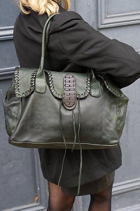 Green Bellame Vintage Handbag - Jijou Capri