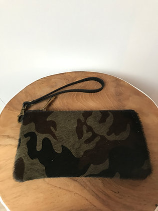 Army Ziplet Pony Leather Wallet - Jijou Capri
