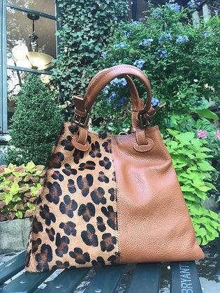Quatro Materiali Brown Leather Handbag - Jijou Capri