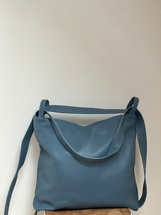 Blue Zaino Futura grained leather handbag- Jijou Capri