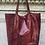 Thumbnail: Wine Snake Print Tote Bag - Jijou Capri