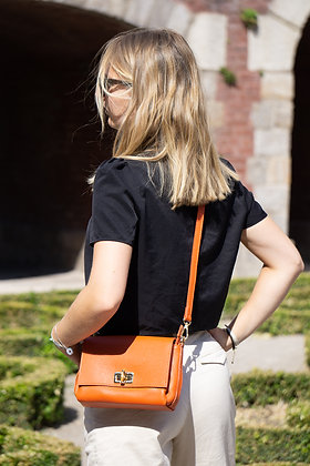 Orange Bamboo Crossbody Bag - Jijou Capri