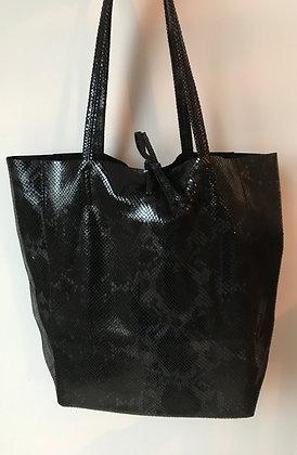Black Snake Print Tote Bag - Jijou Capri