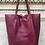 Thumbnail: Wine Leather Tote Bag - Jijou Capri