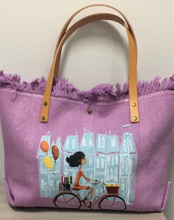 Bicycle Canvas Tote Bag