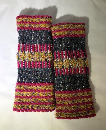 Woven Fingerless Gloves : 200582 Col 5 - Jijou Capri